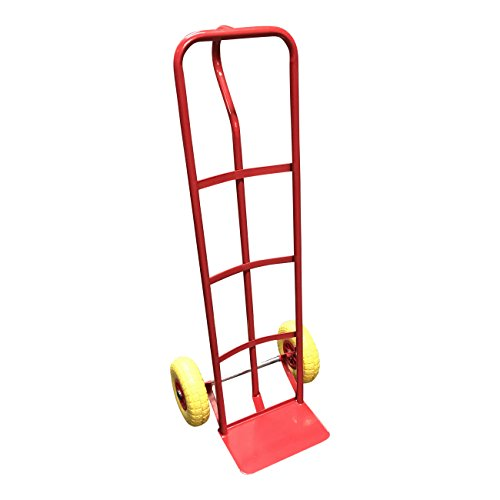 'P-Handle High Back' Steel Sack Truck with Anti Puncture Tyres and 325kg Load Capacity (Red)